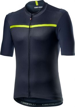 Castelli Unlimited korte mouw fietsshirt blauw/geel heren