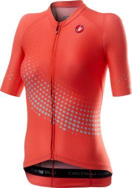 Castelli Aero pro W korte mouw fietsshirt roze dames