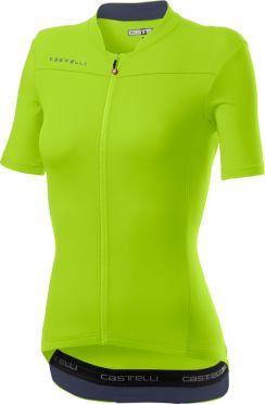 Castelli Anima 3 korte mouw fietsshirt geel dames