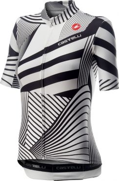 Castelli Sublime korte mouw fietsshirt wit/zwart dames