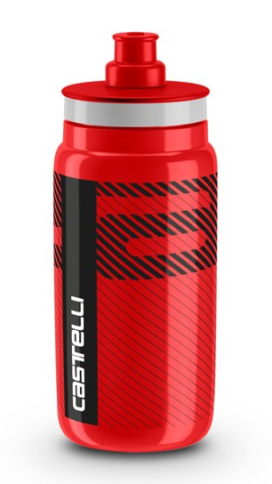 Castelli water bottle bidon 550ml rood