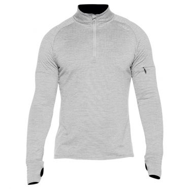 2XU Pursuit Thermal 1/4 Zip hardloopshirt lange mouw grijs heren
