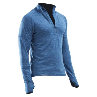 2XU Pursuit Thermal 1/4 Zip hardloopshirt lange mouw blauw heren