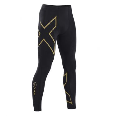 2XU MCS Run Compressie tights zwart/goud heren