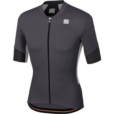 Sportful GTS jersey korte mouw fietsshirt zwart/wit heren