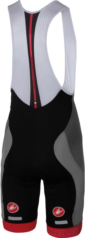 Castelli Velocissimo bibshort grijs/zwart heren