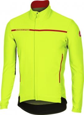 Castelli Perfetto lange mouw jacket geel-fluo heren 16507-032