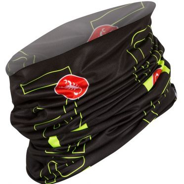 Castelli LW head thingy zwart/fluo geel heren