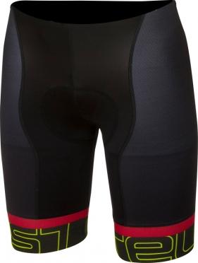 Castelli Volo short fietsbroek zwart/antraciet/geel heren