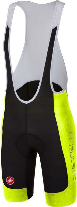 Castelli Evoluzione 2 bibshort fietsbroek zwart/geel heren