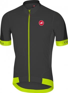 Castelli Volata 2 fietsshirt antraciet/geel heren