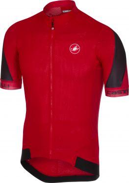 Castelli Volata 2 fietsshirt rood/zwart heren