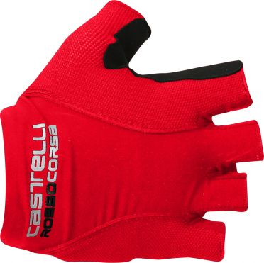 Castelli Rosso corsa pave glove fietshandschoenen rood heren