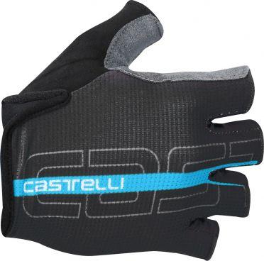 Castelli Tempo glove fietshandschoenen zwart/sky blauw heren