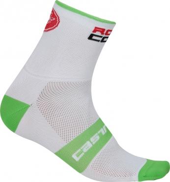 Castelli Rosso corsa 6 fietssokken wit/groen heren