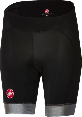 Castelli Cromo fietsbroek zwart/zilver dames