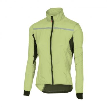 Castelli Superleggera W jacket regenjack lime dames