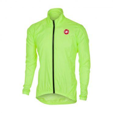 Castelli Squadra jacket regenjack geel fluo heren