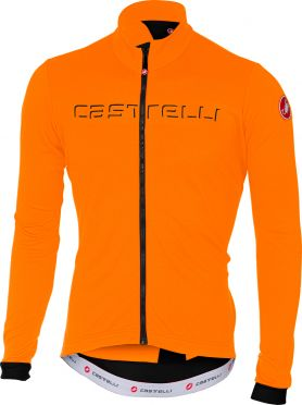 Castelli Fondo fietsshirt lange mouw oranje heren