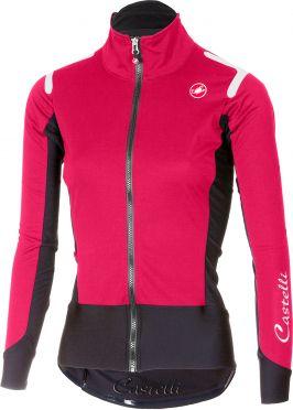 Castelli Alpha ros W fietsshirt lange mouw roze/zwart dames