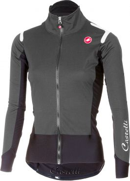 Castelli Alpha ros W fietsshirt lange mouw donker grijs dames