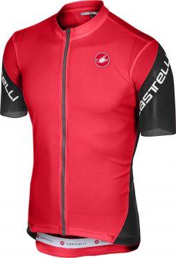 Castelli Entrata 3 FZ fietsshirt korte mouw rood heren