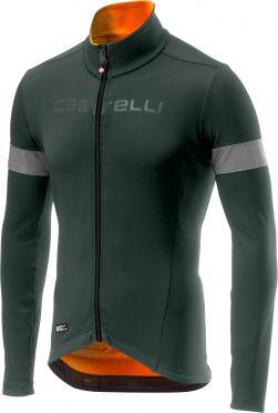 Castelli Nelmezzo ros lange mouw fietsshirt forest grijs/oranje heren