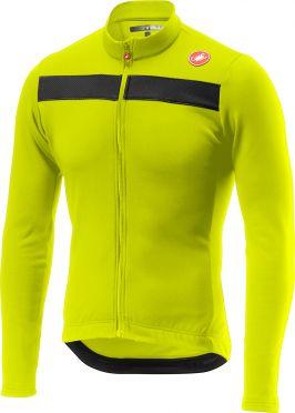 Castelli Puro 3 lange mouw fietsshirt geel heren