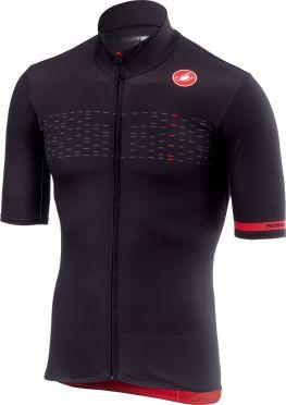 Castelli Mid weight korte mouw fietsshirt licht zwart heren