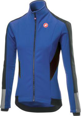 Castelli Mortirolo 3 W lange mouw jacket blauw dames