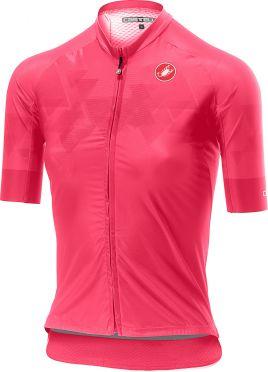Castelli Aero Pro W FZ korte mouw shirt roze dames