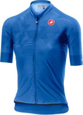 Castelli Aero Pro W FZ korte mouw shirt blauw dames
