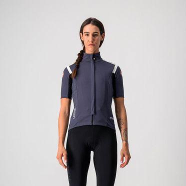 Castelli Gabba RoS W korte mouw fietsshirt donkerblauw dames