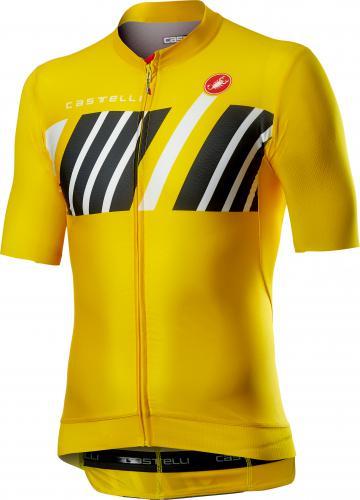 Castelli Hors Categorie korte mouw fietsshirt geel heren