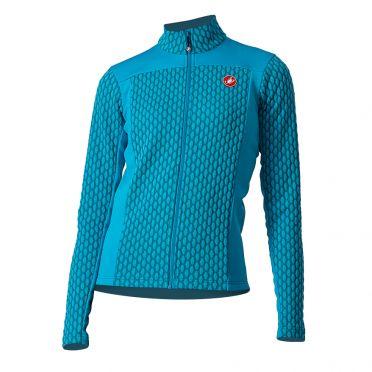 Castelli Sfida 2 fietsshirt lange mouw blauw dames