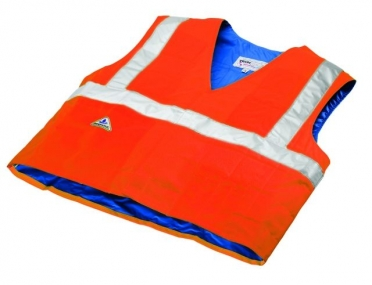 TechNiche HyperKewl evaporative cooling vest safety oranje