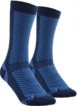 Craft warm mid sokken blauw 2-pack