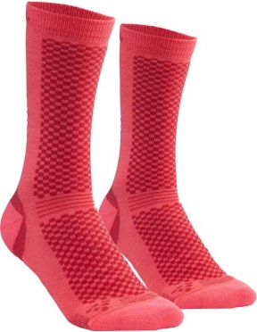 Craft warm mid sokken roze 2-pack