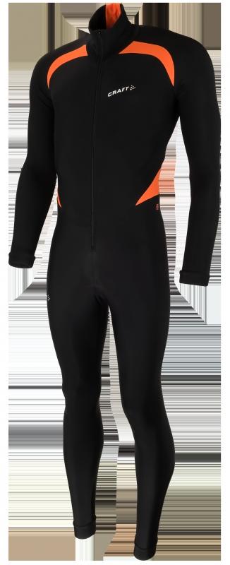 Craft Thermo Schaatspak CB zwart/oranje unisex