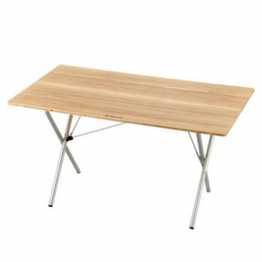 Snow Peak Single Action table long bamboo top (LV-015T)