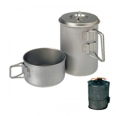 Snow Peak mini solo cook set titanium (SCS-004T)