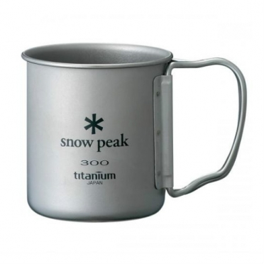 Snow Peak titanium single wall cup 300 ml folding handle (MG-042FH)