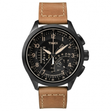 Timex outdoorhorloge IQ Linear Indicator Chronograph lichtbruin T2P277