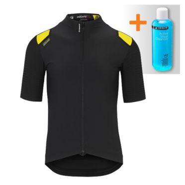 Assos Equipe RS Aero Spring fall korte mouw fietsshirt zwart heren