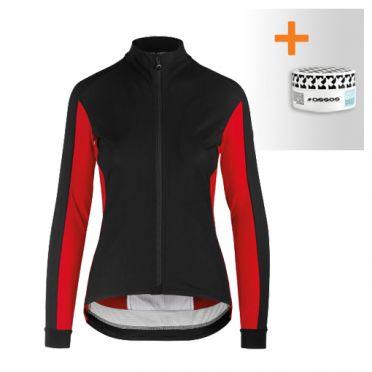 Assos HabuJacketLaalalai fietsjack zwart/rood dames