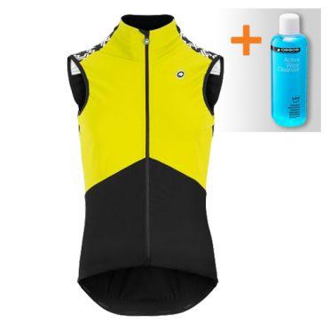 Assos Mille GT Spring fall Airblock vest Fluo geel heren