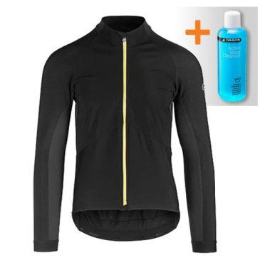 Assos Mille GT spring fall lange mouw jacket zwart/geel heren