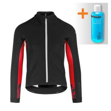 Assos Mille GT ultraz winter lange mouw jacket zwart/rood heren