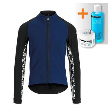 Assos Mille GT winter lange mouw jacket blauw heren