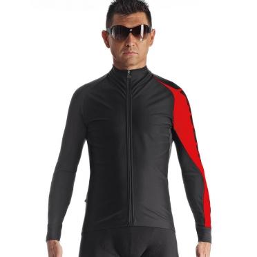 Assos Milleintermediate_evo7 fietsjack zwart/rood heren